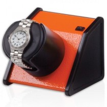 Orbita Rectangular Single Watch Winder in Vibrant Orange
