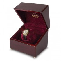 Rapport London Single Watch Winder in High Gloss Cherry Wood