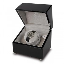 Rapport London Single Watch Winder in High Gloss Black Wood