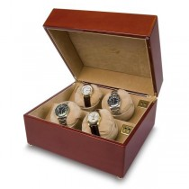 Rapport London High Gloss Cherry Wood Quad Watch Winder