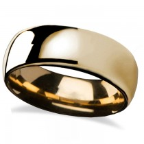Domed Gold Tungsten Wedding Band (8mm)