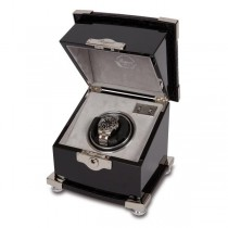 Rapport London Serpentine Single Watch Winder in Ebony Wood