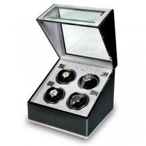 Rapport London Carbon Fiber & Aluminum Quad Watch Winder