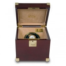 Rapport London Captain's Single Watch Winder in Polished Mahogany Wood