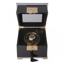 Rapport London Black Wood and Rose Gold Single Watch Winder