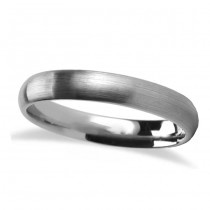 Brushed Finish Rounded Carbide Tungsten Wedding Band (4mm)