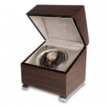 Rapport London Vogue Single Watch Winder Macassar Polished Wood