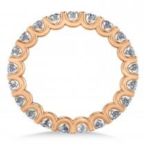 Diamond Eternity Wedding Band 14k Rose Gold (2.10ct)