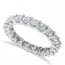 Diamond Eternity Prong-Set Wedding Band 14k White Gold (2.10ct)