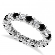 Black Diamond Eternity Wedding Band 14k White Gold (2.10ct)