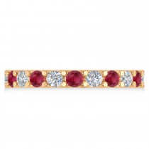 Diamond & Ruby Eternity Wedding Band 14k Rose Gold (2.10ct)