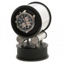 Orbita Cylandrical Single Watch Winder Voyager in Faux Leather
