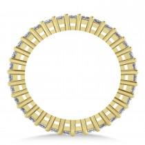 Princess Cut Diamond Eternity Wedding Band 14k Yellow Gold (1.86ct)