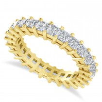 Princess Cut Diamond Eternity Wedding Band 14k Yellow Gold (2.60ct)