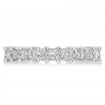 Princess Cut Diamond Eternity Wedding Band 14k White Gold (3.96ct)