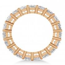 Princess Cut Diamond Eternity Wedding Band 14k Rose Gold (5.51ct)