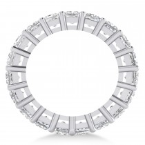 Princess Cut Diamond Eternity Wedding Band 14k White Gold (5.51ct)