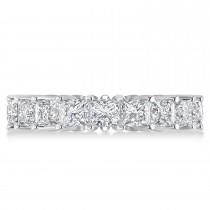 Princess Cut Diamond Eternity Wedding Band 14k White Gold (5.51ct)