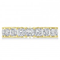 Princess Cut Diamond Eternity Wedding Band 14k Yellow Gold (5.51ct)