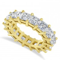 Princess Cut Diamond Eternity Wedding Band 14k Yellow Gold (6.63ct)
