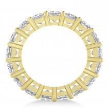 Princess Cut Diamond Eternity Wedding Band 14k Yellow Gold (6.63ct)