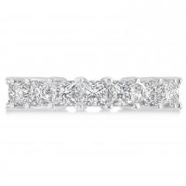 Princess Cut Diamond Eternity Wedding Band 14k White Gold (5.58ct)