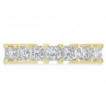 Princess Cut Diamond Eternity Wedding Band 14k Yellow Gold (5.58ct)