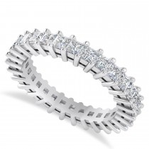 Princess Cut Diamond Eternity Wedding Band 14k White Gold (2.32ct)
