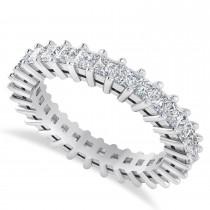Princess Cut Diamond Eternity Wedding Band 14k White Gold (2.32ct)