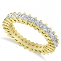 Princess Cut Diamond Eternity Wedding Band 14k Yellow Gold (2.32ct)