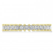 Princess Cut Diamond Eternity Wedding Band 14k Yellow Gold (2.32ct)