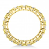 Princess Yellow & White Diamond Wedding Band 14k Yellow Gold (2.32ct)
