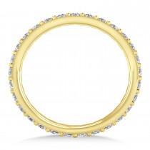 Diamond Eternity Wedding Band 14k Yellow Gold (0.87ct)