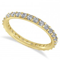 Diamond & Moissanite Eternity Wedding Band 14k Yellow Gold (0.87ct)