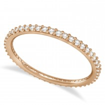 Diamond Eternity Wedding Band 14k Rose Gold (0.25ct)