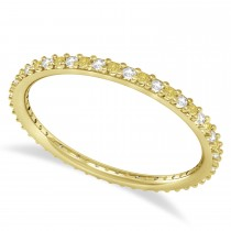 Yellow & White Diamond Eternity Wedding Band 14k Yellow Gold (0.25ct)