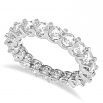 Diamond Eternity Prong-Set Wedding Band 14k White Gold (2.40ct)