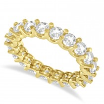 Diamond Eternity Wedding Band 14k Yellow Gold (2.40ct)