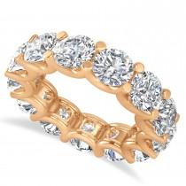Diamond Eternity Wedding Band 14k Rose Gold (9.75ct)
