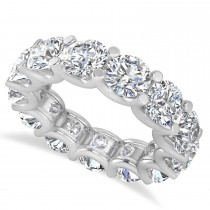 Diamond Eternity Wedding Band 14k White Gold (9.75ct)