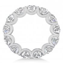 Diamond Eternity Prong-Set Wedding Band 14k White Gold (9.75ct)