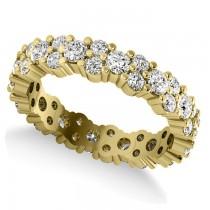 Garland Diamond Eternity Band Ring 14k Yellow Gold (1.69ct)