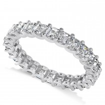 Radiant-Cut Diamond Eternity Wedding Band Ring 14k White Gold (2.60ct)