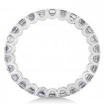 Radiant-Cut Diamond Eternity Wedding Band Ring 14k White Gold (2.60ct)|escape