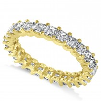 Radiant-Cut Diamond Eternity Wedding Band Ring 14k Yellow Gold (2.60ct)