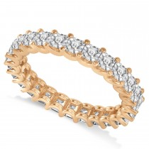 Asscher-Cut Diamond Eternity Wedding Band Ring 14k Rose Gold (2.60ct)