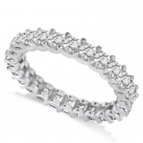 Asscher-Cut Diamond Eternity Wedding Band Ring 14k White Gold (2.60ct)