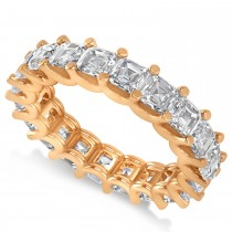 Radiant-Cut Diamond Eternity Wedding Band Ring 14k Rose Gold (5.00ct)