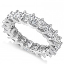 Radiant-Cut Diamond Eternity Wedding Band Ring 14k White Gold (5.00ct)
