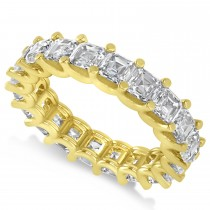 Radiant-Cut Diamond Eternity Wedding Band Ring 14k Yellow Gold (5.00ct)